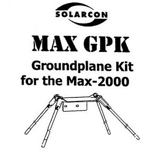 Solarcon MAX-GPK I-Max 2000 Ground Plane Kit